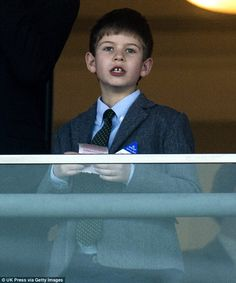 James Viscount Severn, son of Prince Edward and Sophie, was caught cheering on horses ...