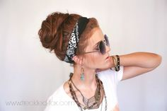 The Freckled Fox - a Hairstyle Blog: Festival Hair Week: The Perfect Messy Bun