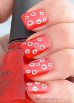 Quick Nail Art Ideas - Spots In Dots - Easy Step by Step Nail Designs With Tutorials and Instructions - Simple Photos Show You How To Get A Perfect Manicure at Home - Cool Beauty Tips and Tricks for Women and Teens Elegant Nail Designs, Simple Nail Art Designs, Elegant Nails, Cute Nail Designs, Easy Nail Art, Stylish Nails, Cute Spring Nails, Spring Nail Art, Summer Nails