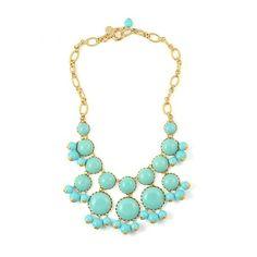 Dabney Glass Stone Bib Necklace {Three Color Options} via Polyvore