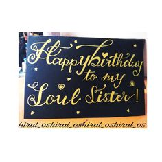 For your soul sister!! Birthday card for love soulmates  Customized yours too!! Dm for order :) . . . #happybirthday #birthdaygift #birthday #soulsisters #sisterforlife #cardshop #cardlove #handwrittenletters #handmadelove #love #calligraphydaily #calligraphymasters #arty #thedailycalligraphy #moderncalligraphy #illustration #artsy #art #instaart #art #artistsoninstagram #ahmedabad #india #hiralshah