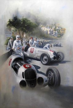 Silver Arrows 1937 by Don Packwood
