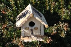 Your Birds Are Looking For This! Bird House Hand Made Re Purposed by GinasCornerCrafts on Etsy, $27.00