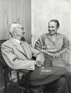 Hermann Hesse and his wife..