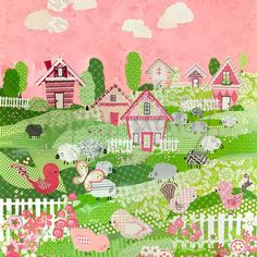 Counting sheep pink by winborgdesign on Etsy