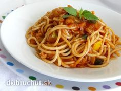 Fotorecept: Špagety s mäsovo-cuketovou omáčkou Gnocchi, Spaghetti, Food And Drink, Pork, Beef, Treats, Dinner, Cooking, Ethnic Recipes