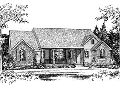 Eplans French Country House Plan - Three Bedroom French Country - 2205 Square Feet and 3 Bedrooms(s) from Eplans - House Plan Code HWEPL57500