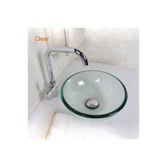 洗面台 手洗面ボウル 洗い器 強化ガラス製 排水金具付 D31cm VTN617