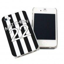Personalised Newcastle United Style Shirt iPhone Case