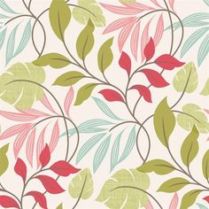 Wallpaper Eden Pink Modern Leaf Trail 2535-20629