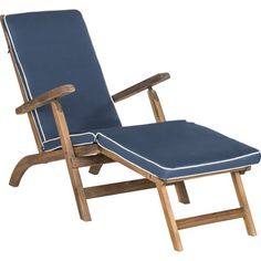 Palms Acacia Patio Chaise in Natural  at Joss and Main