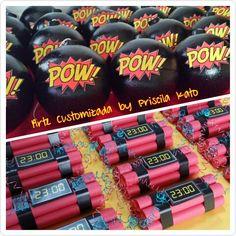 Bombas Centros de mesa e Dinamites de mentos!