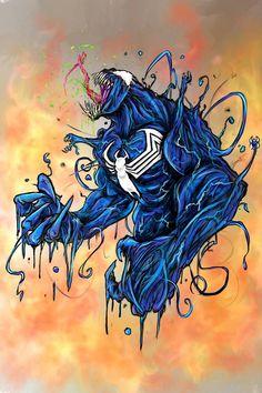 Comic Books Art, Comic Art, Book Art, Venom Art, Heroes For Hire, Marvel Comics Art, Comic Pictures, Spider Verse, Vault Doors