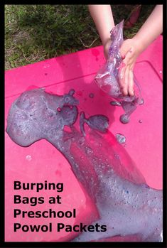Burping Bags Watch the bags grow and explode, then play in the mess! This doesn't even need to be for Preschool! My kids in will love it! Fun Experiments For Kids, Educational Activities For Kids, Summer Activities For Kids, Science For Kids, Science Activities, Science Crafts, Steam Activities, Mad Science, Kids Crafts