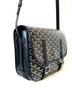 Goyard Black Classic Black Chevron Print Messenger Cross Body Bag Handbag Purse | eBay