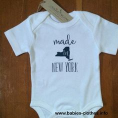 Made in New York Baby Onesie - Made in NY Baby - Organic Cotton Baby Clothes Custom Screen Printed Onesie - http://www.babies-clothes.info/made-in-new-york-baby-onesie-made-in-ny-baby-organic-cotton-baby-clothes-custom-screen-printed-onesie.html