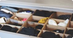 DIY Underwear Drawer Organizer✖✖✖✖✖✖✖✖ sew-much-to-do: a visual collection of sewing tutorials/patterns, knitting, diy, crafts, recipes, etc.