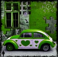 """""""Beetle Bugs"""" for """"Birdman"""" Go Green, Green And Purple, Shades Of Green, Emerald Green, Green Colors, Bmw R100, O Gas, Vw Beetles, Color Of Life"""