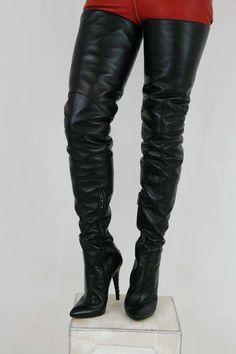 High Heels Boots, Knee High Heels, High Leather Boots, Sexy Boots, Thigh High Boots, Over The Knee Boots, Sexy High Heels, Heeled Boots, Crotch Boots