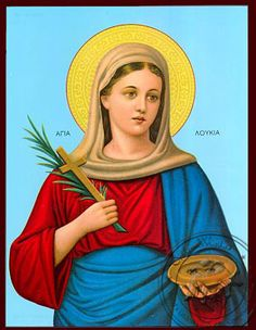 Old Greek, Sainte Lucie, Spiritual Path, Orthodox Icons, Lettering Design, Ikon, Madonna, Art Drawings, Mona Lisa