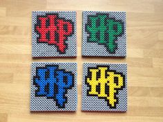Harry Potter coasters perler fuse beads by DonaFacimus