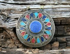 Beautiful handmade Afghan pendant - look4treasures on Etsy, $32.95