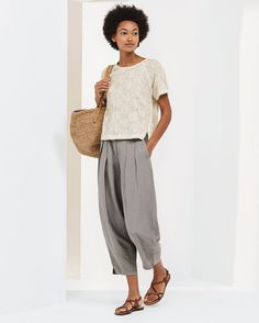 14860d54f8daf0 Poetry Fashion - Embroidered top Linen Trousers, Floral Embroidery  Patterns, Tunic, Silk,