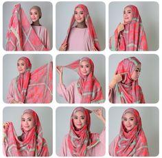 hijab tutorial coverage, good to do with dupattas, maxi scarfs Tutorial Hijab Modern, Hijab Style Tutorial, Pashmina Hijab Tutorial, Scarf Tutorial, Diy Tutorial, Muslim Women Fashion, Modern Hijab Fashion, How To Wear Hijab, Turban Hijab