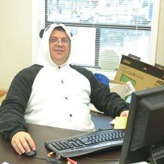 Louis Trahan, deskpanda, LastMinuteTraining, Halloween2014, Workplace fun, costume, onesie