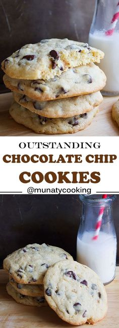 Outstanding Chocolate Chip Cookies. Buttery, thick, soft, and chewy chocolate chip cookies that are absolutely divine! Made by hands (literally). A must try for all chocolate lovers. www.munatycooking.com   @munatycooking