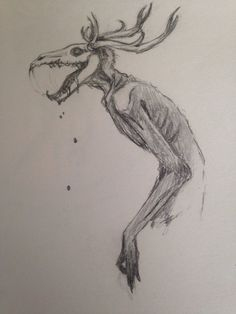 Image result for wendigo drawing