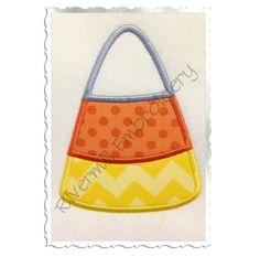 $2.95Applique Candy Corn Machine Embroidery Design