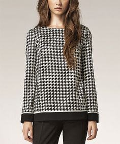 Pattern Cuffed Boatneck Top | zulily