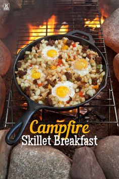 Make a classic camping breakfast with our campfire skillet breakfast recipe. Make a classic camping breakfast with our campfire skillet breakfast recipe. To Eat When Camping Make a classic camping breakfast with. Checklist Camping, Camping Menu, Camping Hacks, Camping Ideas, Camping Essentials, Outdoor Camping, Camping Cooking, Family Camping, Camping Guide