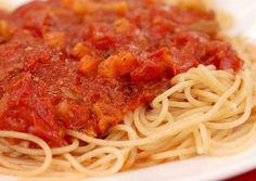 Superbe recette de Spaghetti au chili sans viande