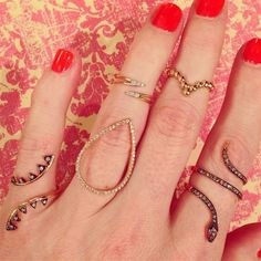 Kismet by Milka has a ring for every finger - and we can't pick just one. #LoveGold