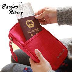 Travel Multifunctional ID Holder Passport Cover Wallet Travel Credit Card Package Storage Organizer Women Clutch Money Bag Purse #Affiliate