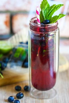 Blueberry Mojito!! YUMMY