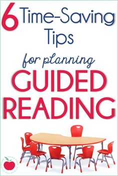 This helpful blog post gives 6 different teacher tips for saving time when planning and organizing for guided reading.  From planning hacks to organization tricks, these teacher tips can be used no matter what guided reading program you follow or what grade you teach.  These time-saving strategies work for 1st grade, 2nd grade, 3rd grade, and 4th grade teachers.  #guidedreading