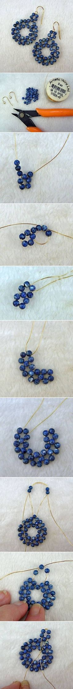 DIY Beads on Wire Earrings