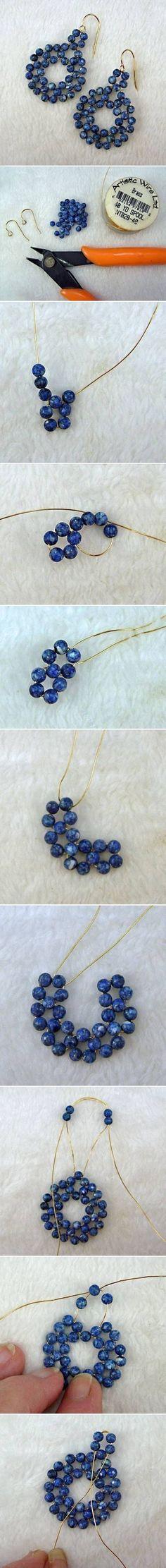 DIY Beads on Wire Earrings