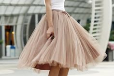 Fashion Street Style Skirt,Tulle Skirt,Charming Women Skirt,spring Autumn Skirt ,A-Line SkirtThis exquisite dress would be perfect as a bridesmaid dress or to wear to a prom. Ideal for summer events a. Fashion Mode, Look Fashion, Skirt Fashion, Fashion Beauty, Ladies Fashion, Fashion Dresses, Lolita Fashion, Modest Fashion, Runway Fashion