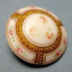 Victorian Glass Button with Gilt and Claw Shank