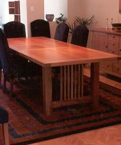 plans for mission style dining table - Google Search