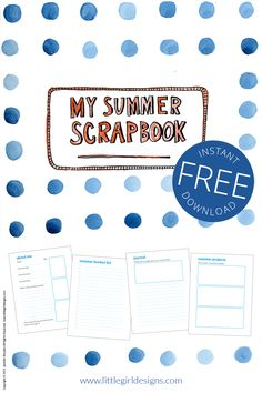 A free summer scrapbook that you or your kids can print and fill out this summer. I've also included some ideas for how to use your scrapbook.