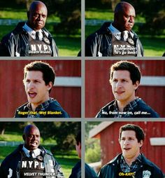 Captain Ray Holt and Jake Peralta -- Brooklyn Nine-Nine Brooklyn Nine Nine Funny, Brooklyn 9 9, Hunger Games, Jake And Amy, Jake Peralta, Fandoms, Parks N Rec, Film Serie, Rookie Blue