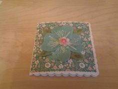 Actually made a card today rubbish photo as light is poor