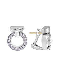 Enso Diamond Earrings | LAGOS.com
