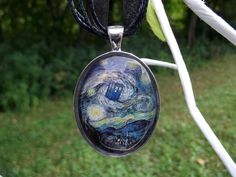 Doctor Who Van Gogh Starry Night Tardis art by BohemianCraftsody, $24.00