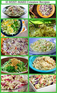 10 Must- Make Coleslaw Recipes - including Classic, Memphis-Style, Mango, Creamy Coconut, Tangy Vinegar, Tennessee Mustard, and more!